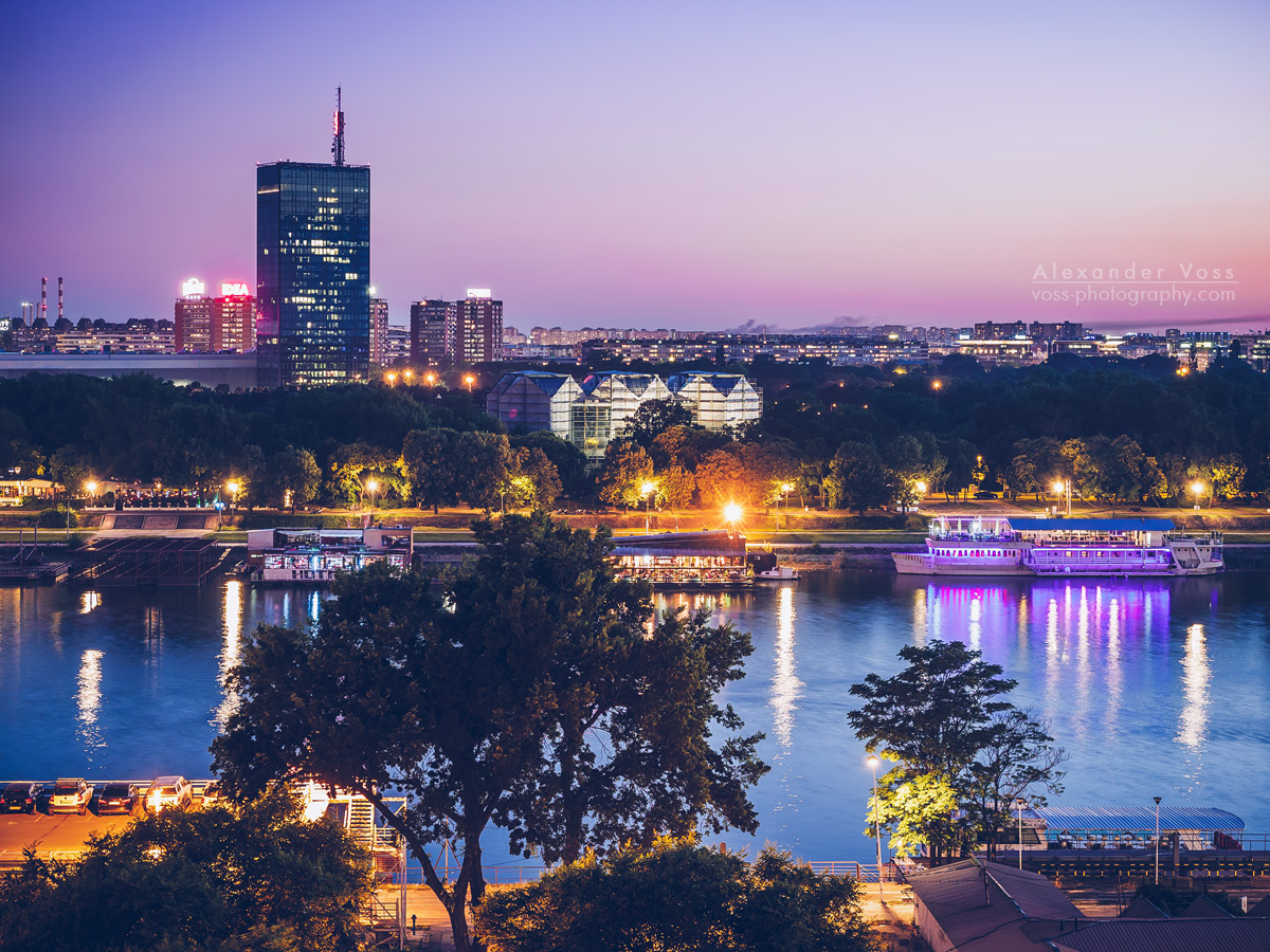 Belgrade – Blue Hour Skyline