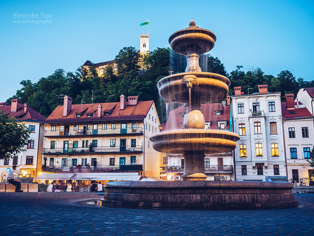 Ljubljana – Old Town at Blue Hour