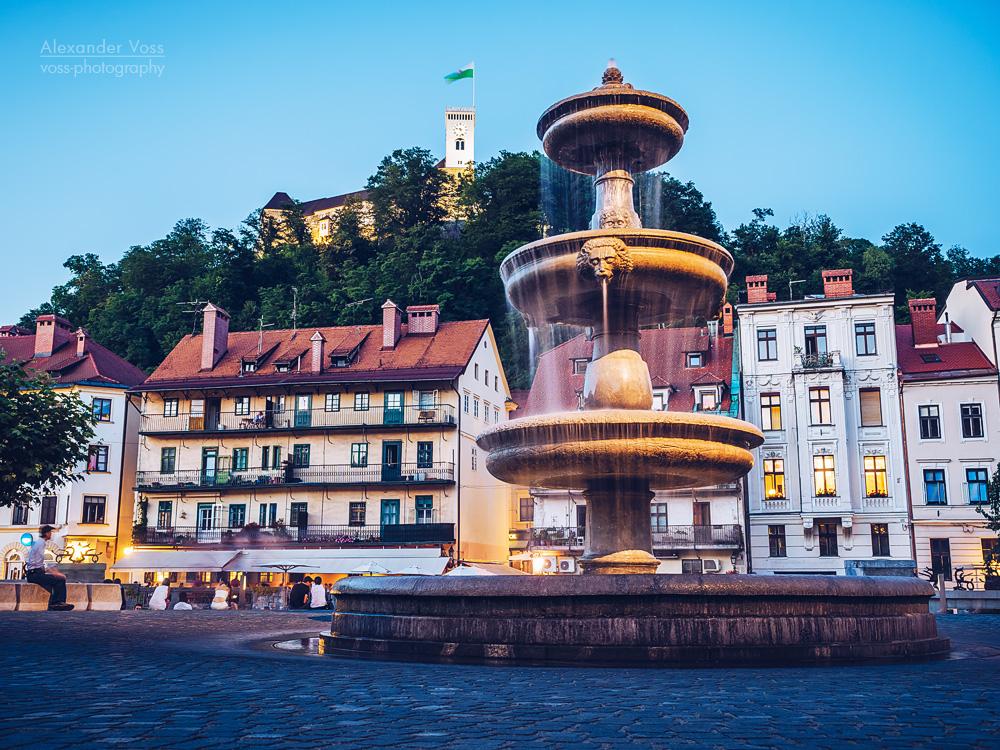 Ljubljana – Old Town at Blue Hour